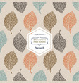 floral seamless pattern with autumn tree leaves vector image