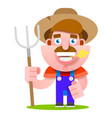 funny farmer character isolated on vector image
