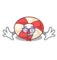 geek swim tube character cartoon vector image vector image