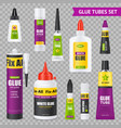 glue tubes set vector image vector image