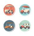 golf carts set icons vector image