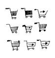 hand drawn doodle shopping cart design vector image