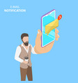 isometric flat concept e-mail vector image