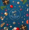 merry christmas and happy new year concept vector image vector image