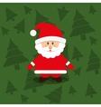 Merry christmas santa claus card vector image vector image