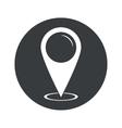 Monochrome round area pointer icon vector image vector image