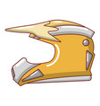 motorcycle helmet icon cartoon style vector image vector image