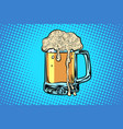 mug of beer bar restaurant pub vector image