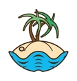 palm tree sand beach island vector image