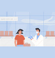 pcr testing at airport poster concept vector image vector image