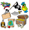 pirate collection 10 vector image