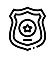 police officer badge icon outline vector image vector image