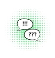 Question and exclamation marks icon comics style vector image vector image