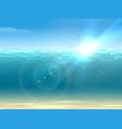 realistic underwater background vector image vector image