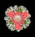 romantic bride bouquet vector image vector image