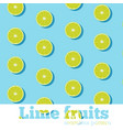 seamless pattern with fresh limes vector image