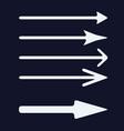 set of white arrows icon vector image