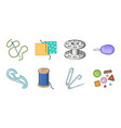 sewing atelier icons in set collection for design vector image