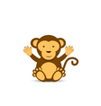 Simple monkey character vector image vector image