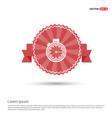stop watch icon - red ribbon banner vector image