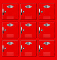 storage safe lockers red section vector image vector image