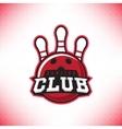 symbol bowling club vector image