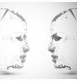 symbol human head vector image vector image