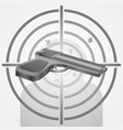 target with gun shooting range vector image