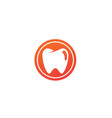 teeth care symbol in circle for dentist vector image vector image