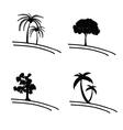 tree icon and symbol vector image vector image