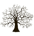 tree without leaves silhouette vector image vector image