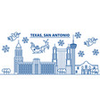 usa california san antonio winter city skyline vector image vector image
