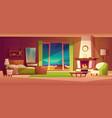 villa interior bedroom tropical house vector image