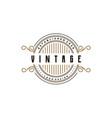 vintage retro badge emblem logo design vector image