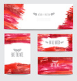 watercolor cards set vector image vector image