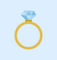 wedding diamond ring graphic vector image vector image