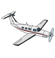 White propeller airplane vector image vector image