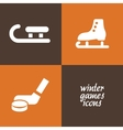 winter game icons vector image vector image