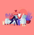 young loving couple spend time at home sitting on vector image vector image