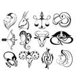 Zodiacs vector image vector image