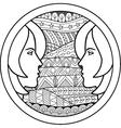 Zodiac sign Gemini vector image