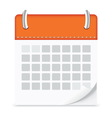 icon calendar isolated background vector image