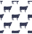 cows seamless pattern vector image