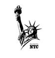 american symbol - statue liberty vector image vector image