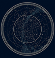 Astronomical Map of The Northern Hemisphere vector image vector image