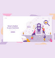 banner smart chatbot to your business vector image