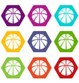basketball icons set 9 vector image