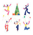 birthday new year and christmas celebration set vector image