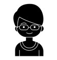 boy geek with glasses icon vector image