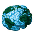 brain world globe vector image